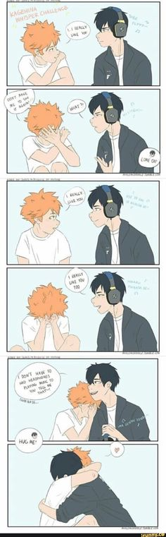 You'll see a lot of Kageyama X Hinata in here, but there will be other ships, I promise! Just stick around - and get through all the King X Queen stuff, and you'll see. Just trust me. Kageyama X Hinata, Haikyuu Karasuno, Haikyuu Fanart, Haikyuu Ships, Kagehina Cute, Art Manga, Haikyuu Funny, Volleyball Anime, Anime Ships