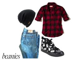 """""""beanie!"""" by stellanox ❤ liked on Polyvore featuring Hollister Co. and Coal"""