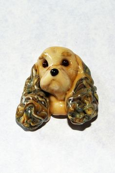 Lampworked Glass Brown Cocker Spaniel- Signed Dog Bead by GlassArtbyVicki, $119.00 I had a little pair of Cockers similiar to these