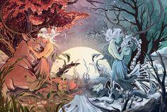 Runner, Alexandria Huntington on ArtStation at… Art And Illustration, Illustrations, Pretty Art, Cute Art, Arte Inspo, Greek Mythology Art, Jolie Photo, Persephone, Art Plastique