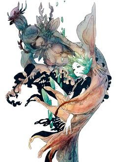 Phos - Houseki no Kuni Manga Anime, Manga Art, Anime Art, Illustrations, Illustration Art, Matou, Character Design Inspiration, Oeuvre D'art, Art Inspo