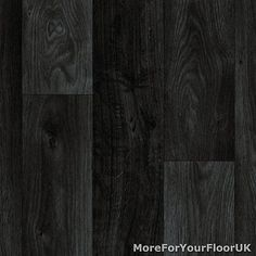 Black Dark Grey Wood Plank Vinyl Flooring, Slip Resistant Lino 4m, Cushion Floor in Home, Furniture & DIY, DIY Materials, Flooring & Tiles | eBay