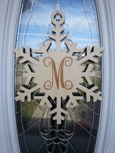 Large 18 Inch UNFINISHED wooden snowflake with by LifeAStitch, $35.00