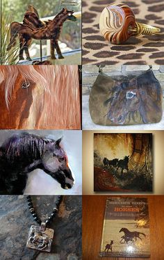 Etsy Treasury, Horse Colors, featuring horse jewelry, artwork and statues. --Pinned with TreasuryPin.com #horse #horses #cowgirl #farmgirl #etsytreasury #artwork #jewelry