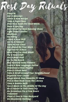 Rest Day Rituals Why You Need Them In Your Routine Fitness Tips Running For Beginners Fitness For Beginners Fitness Motivation Healthy Living Squat Challenge, Running For Beginners, Workout For Beginners, Running Tips, Fitness For Beginners, Running Form, Running Training, Dog Training, Yoga Routine