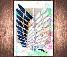 Watercolor Survey Corps Emblem Anime digital print by DidiPrint $3.99