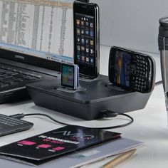i3p Universal Charger -  solves those issues using interchangeable charging tips, letting you power up to four devices simultaneously. iDevice, microUSB, and miniUSB tips are included, and an integrated USB charging port expands your options even further.