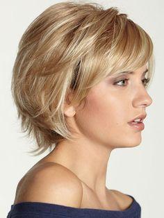 Пушистый натуральных человеческих волос короткий парик и парики - на Jollychic