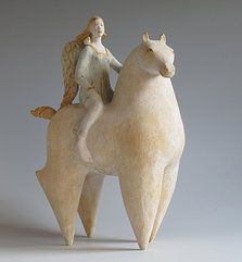 Margaret Wozniak Ceramics I love this fat horse so much (says original pinner, and I agree!)