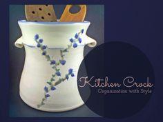 Handsome+handmade+kitchen+crock+in+blue.