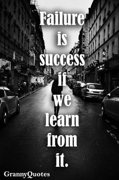 #Failure Is #Success If We Learn From It..! Http:/