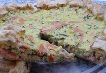 Quiche Légère aux Deux Saumons WW Mini Cakes, Menu, Healthy, Breakfast, Food, Couture, Vintage, Fresh Fruit Salad, Menu Board Design