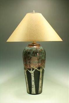 Raku Lamp - The Aspens - Looks great in our bedroom. $375