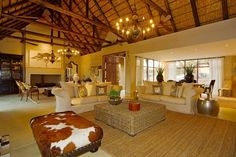 *Luxury on safari * Set amidst riverine vegetation in a private nature reserve adjoining the Kruger National Park, South Africa.  Stunning bushveld luxury interior: http://www.myproperty.co.za/for-sale-in-wild-rivers-hoedspruit-limpopo_409714.aspx#4