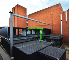 shipping container mall | Watford Market shipping container mall construction
