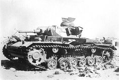 Panzer 3 knocked out in North Africa