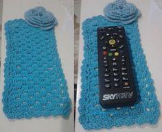 Arte em Crochet: Tapetinho para controle remoto em crochet