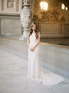 Dress: Carol Hannah Winchester | Photography: Lara Lam | Styling and Planning: Kyla Gold | Floral Design: Bowerbird Atelier | Hai…