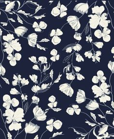 flowers, wallpaper, and floral imageの画像 Hand Illustration, Illustrations, Botanical Illustration, Graphic Patterns, Textile Patterns, Print Patterns, Floral Patterns, Surface Pattern Design, Pattern Art