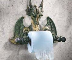 Dragon Tissue Holder - I'd love to get this in a bigger size and us it for paper towels in the kitchen.