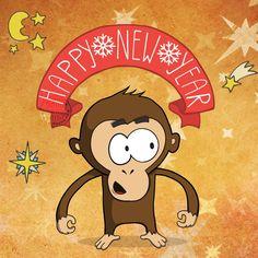 Happy New Year 2016 of Monkey