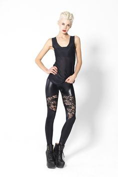 Spartans Lace Leggings by Black Milk Clothing. Want these sooo badly. The more I see them the more I want them
