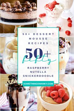 Get more than 50 of the BEST Mousse Dessert Recipes right here, including Nutella Mousse Cake, White Chocolate Snickerdoodle Mousse, Healthy Chocolate Mousse, and more! Single Serve Desserts, No Cook Desserts, Mini Desserts, Delicious Desserts, Dessert Recipes, White Chocolate Mousse Cake, Nutella Mousse, Healthy Chocolate Desserts, Dessert Chocolate