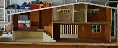 Thanks to this network of modern miniature lovers, a Betsy McCall dolls house has made it into my collection. The McCall house was sold via. Dollhouse Design, Modern Dollhouse, Dollhouse Dolls, Dollhouse Furniture Kits, Doll Furniture, Scale Model Homes, Barbie Furniture Tutorial, Wooden Table And Chairs, House Made