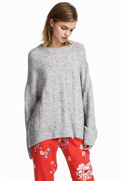 Knitted jumper - Light grey marl - Ladies | H&M IE 1