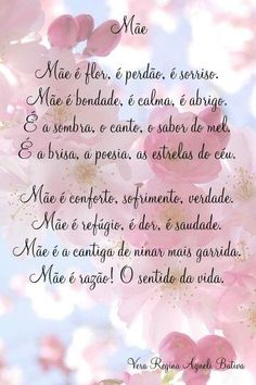 Mensagens Dia das Mães 2019 - Facebook, whatsapp para se inspirar! - Portal Dicas Poetry Happy, Meaning Of Your Name, Message For Mother, Decoupage Vintage, Instagram Blog, Family Love, Mom And Dad, Fathers Day, Me Quotes