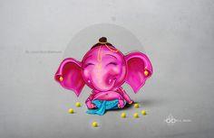 Little Ganesha on Behance Ganesha Drawing, Lord Ganesha Paintings, Ganesha Art, Krishna Art, Krishna Mantra, Shri Ganesh, Ganesh Images, Ganesha Pictures, Wallpaper Nature Flowers