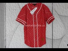 8fc83bf92e51 Brand Supreme Denim Baseball Jersey Red Review from sneakeronfire.us  Use