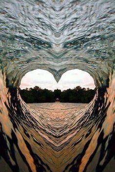 ❤️ HEARTS IN NATURE ❤️ ~ Heart Wave - - Beautiful - but I think this might have been photo shopped, only because I can see the face of an eagle just above the heart.beautiful heart nevertheless. Heart Wallpaper, Nature Wallpaper, Heart Wave, Wave 3, Heart In Nature, Heart Images, I Love Heart, Jolie Photo, Ocean Waves