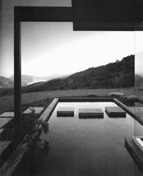 ARTIST: Julius Shulman  TITLE: Singleton House  (Richard Neutra, architect)  DATE: 1960  MEDIUM: recent gelatin silver print  SIZE: h: 20 x w: 16 in