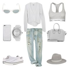 Effortless Comfort by fashionlandscape on Polyvore featuring Mode, Calvin Klein Underwear, Converse, Givenchy, Lucien Piccard, Janessa Leone and RetroSuperFuture