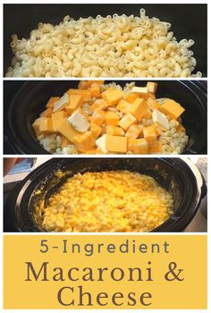 5-ingredient crock pot macaroni and cheese is absolutely amazing! I could eat two pots of this by myself! :)