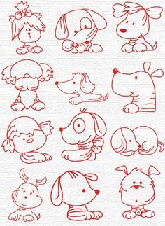Embroidery Puppies, part 2...  Free Embroidery Designs, Sweet Embroidery, Designs Index Page