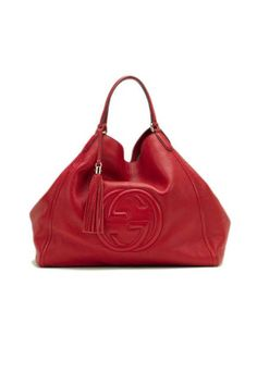 Gucci's red tasseled Soho shoulder bag #gucci