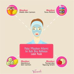 Ladies, tak perlu bahan-bahan kimia yang berbahaya biar kulit makin putih. Masker alami ini jauh lebih aman. Coba yuk~  #vemaledotcom #ruangvemale #sharingajasis #february #vemalegrafis #infografis #good2share
