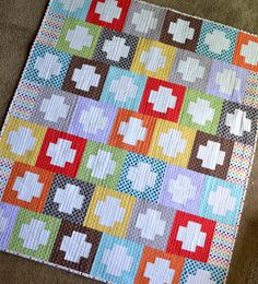 Rainbow Inside Out Plus Quilt - £78