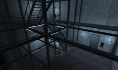 https://flic.kr/p/J5zXLQ | more stairs | Set in the fall of the 2002, the secret underground research facility, The Hive, has undergone a catastrophic event.