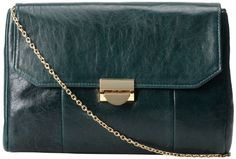 Lauren Merkin Mini Marlow Clutch Hunter High Gloss Lamb �