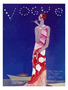 Vogue Cover - July 1926 Giclee Print by Eduardo Garcia Benito, from Art.com