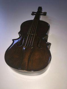 Wood box violin