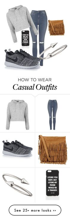 """Sexy Casual"" by dakodabrungs on Polyvore featuring Topshop, NIKE, Jules Smith, Polo Ralph Lauren and Jac Vanek"