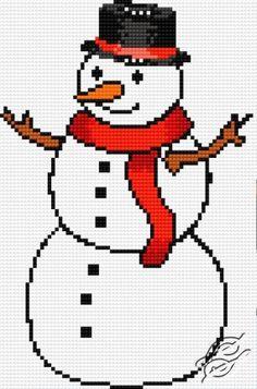Snowman - Free Cross Stitch Pattern