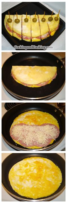 Fast Healthy Breakfast Recipes : Ham and Cheese Omelette Recipe Egg Recipes For Breakfast, Breakfast Toast, Breakfast Dishes, Best Breakfast, Breakfast Casserole, Ham And Cheese Omelette, Omelette Recipe, Low Carb Recipes, Cooking Recipes
