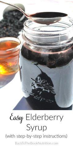 Easy Elderberry syru
