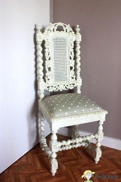 Chaise henri II blanche