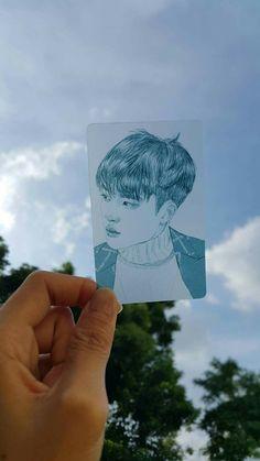 This is pretty! Chanyeol Baekhyun, Exo Fan Art, Exo Do, Do Kyung Soo, Kpop Exo, Bts And Exo, Kpop Fanart, K Idols, Drawing Reference